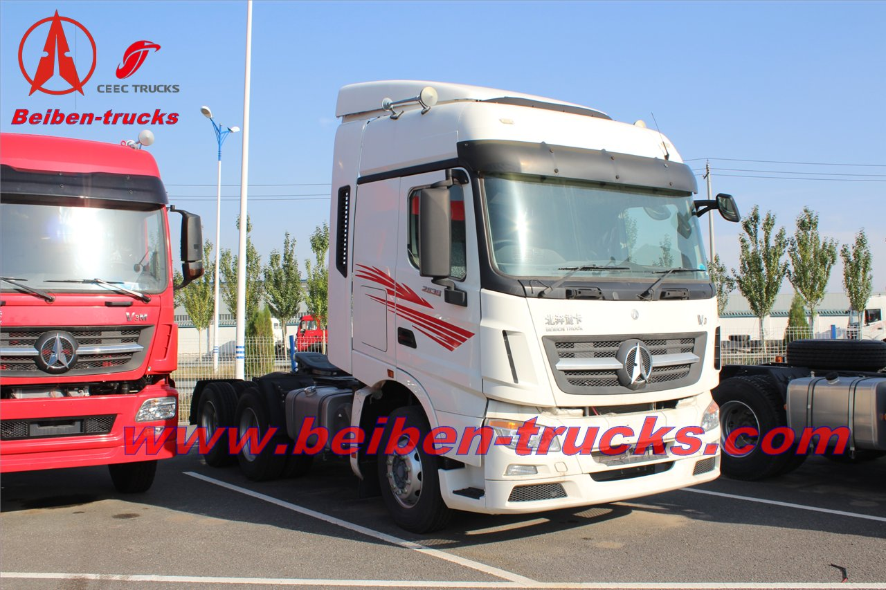 Benz copy BEIBEN V3 10 wheel tractor head trucks  supplier