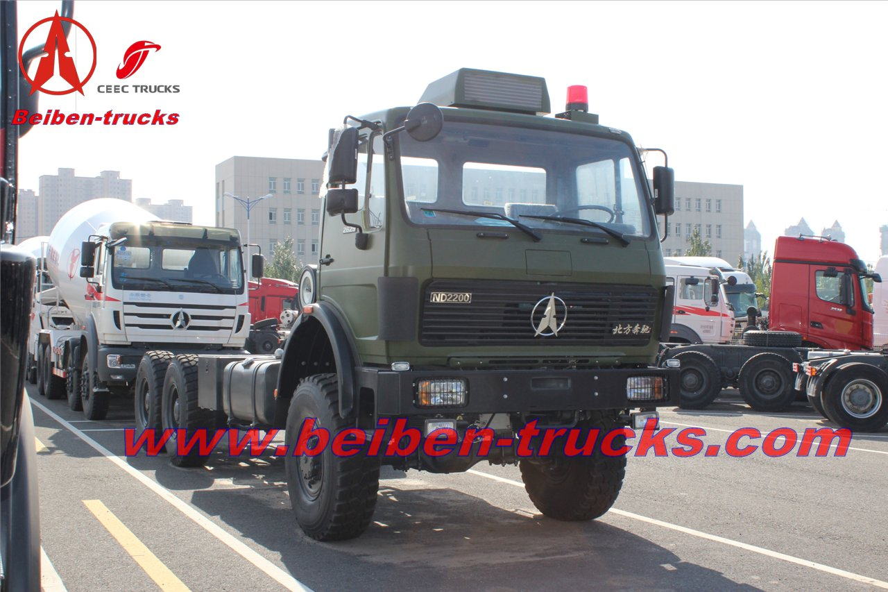Beiben 6x4 tractor ND42500B32J/mercedes benz tractor heads  supplier in china