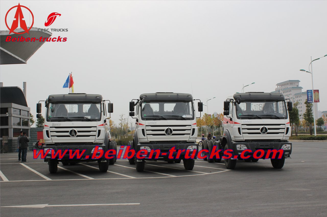 china New BEIBEN 6X6 380HP tractor truck(Mercedes Benz technology) Off Road Truck