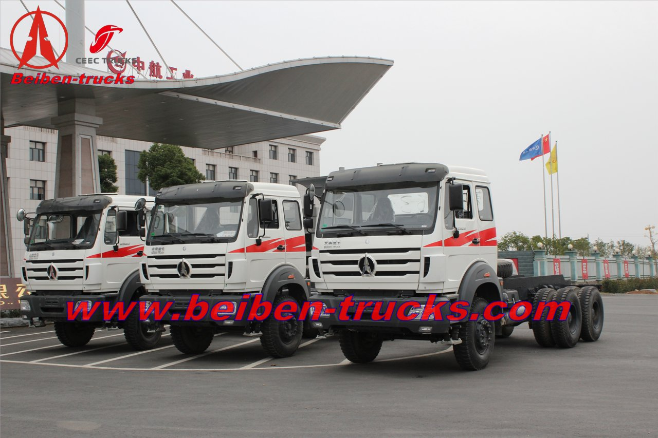 china Beiben Tractors 6x4 Trailer Head Truck 290-420hp NG80 V3 prime mover supplier
