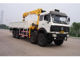 china best quality 16ton Beiben 8*4 truck mounted crane