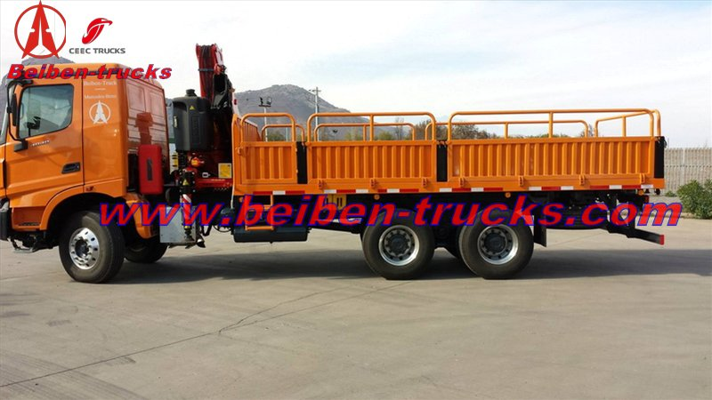 best price for 6.3 ton Beiben V3 truck mounted crane