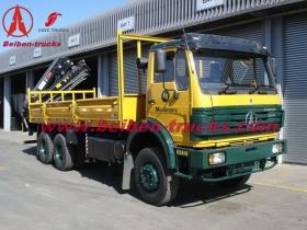 china Beiben 16 T knuckle boom crane truck  manufacturer