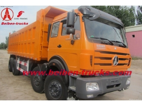china best quality beiben 8*4 dump trucks manufacturer for africa