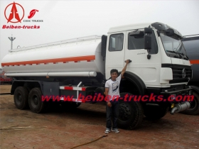 cheap Beiben oil carrier 25000L fuel tank truck oil off road tank truck price