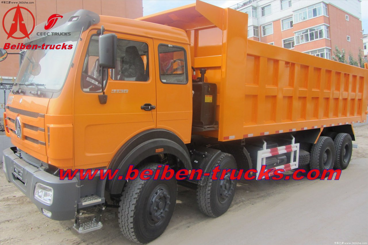 china best price for north benz 8*4 dump trucks