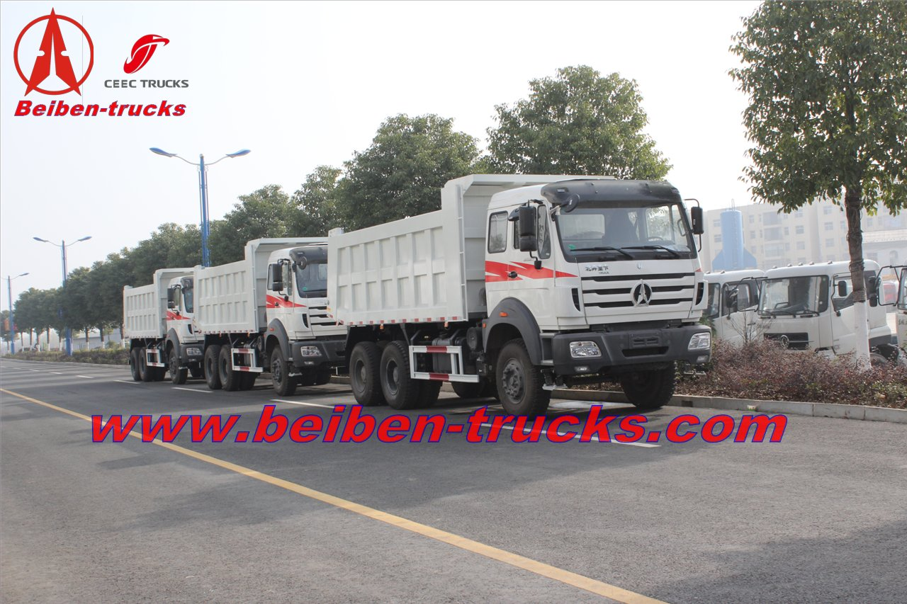 380hp tipper truck Beiben 6x4 dump truck for construction in Africa