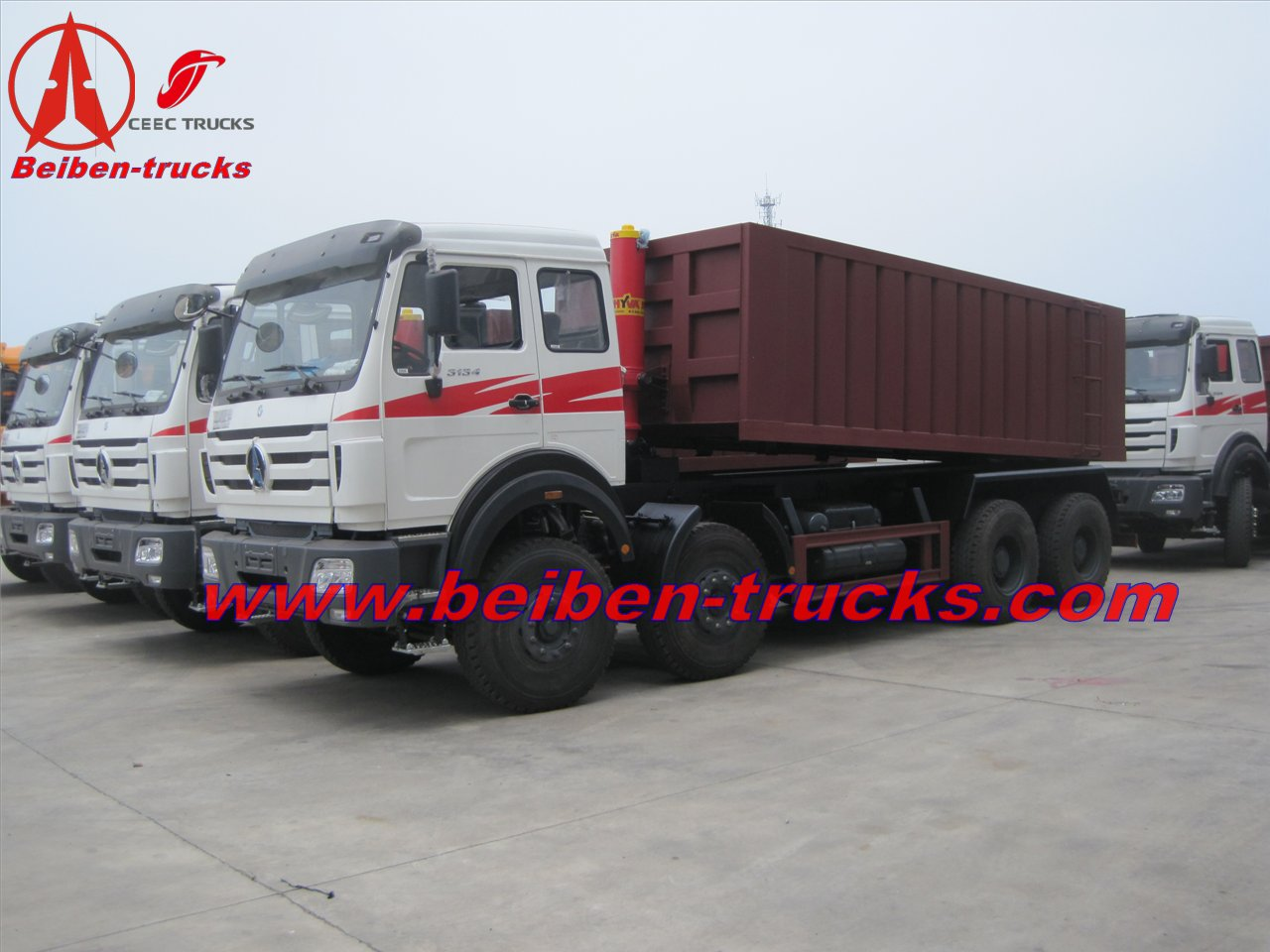 best quality beiben 340 Hp engine dump truck for sale