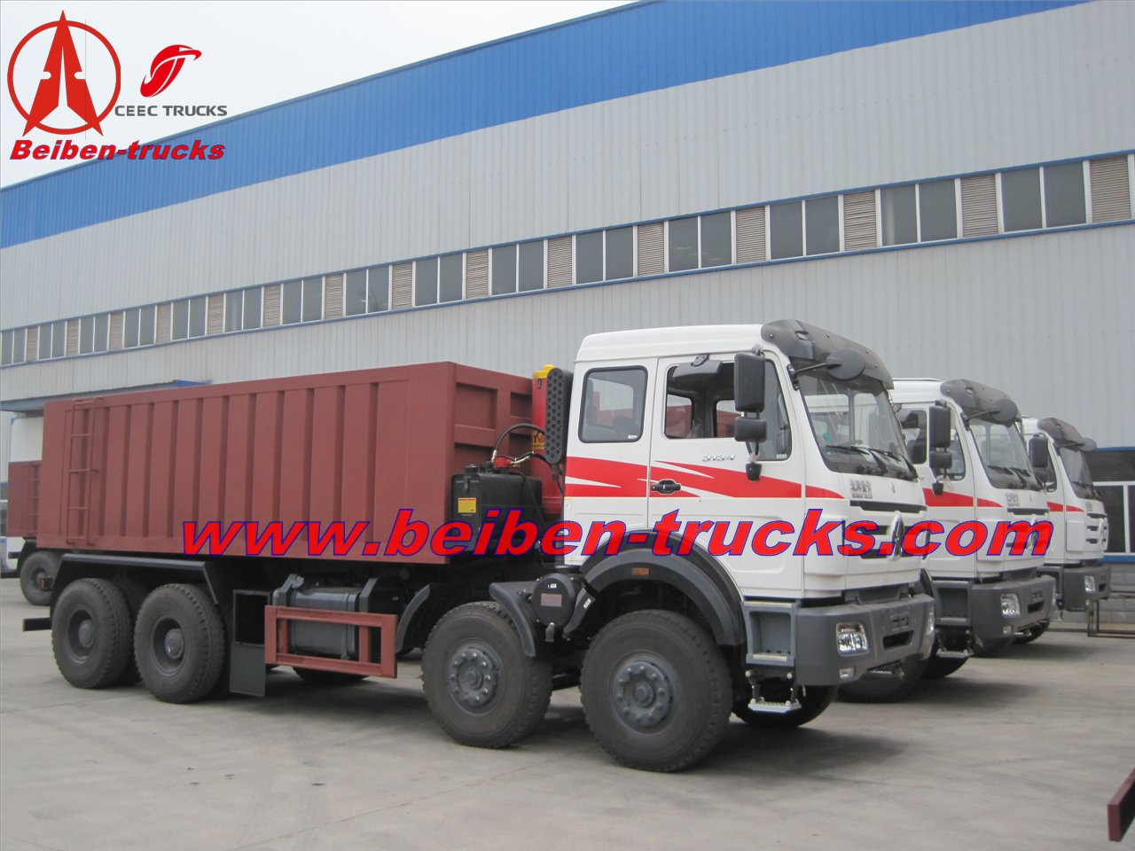 beiben 3134 tipper trucks manufacturer from china baotou