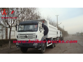 china Beiben 6x4 380hp dump truck used for construction work