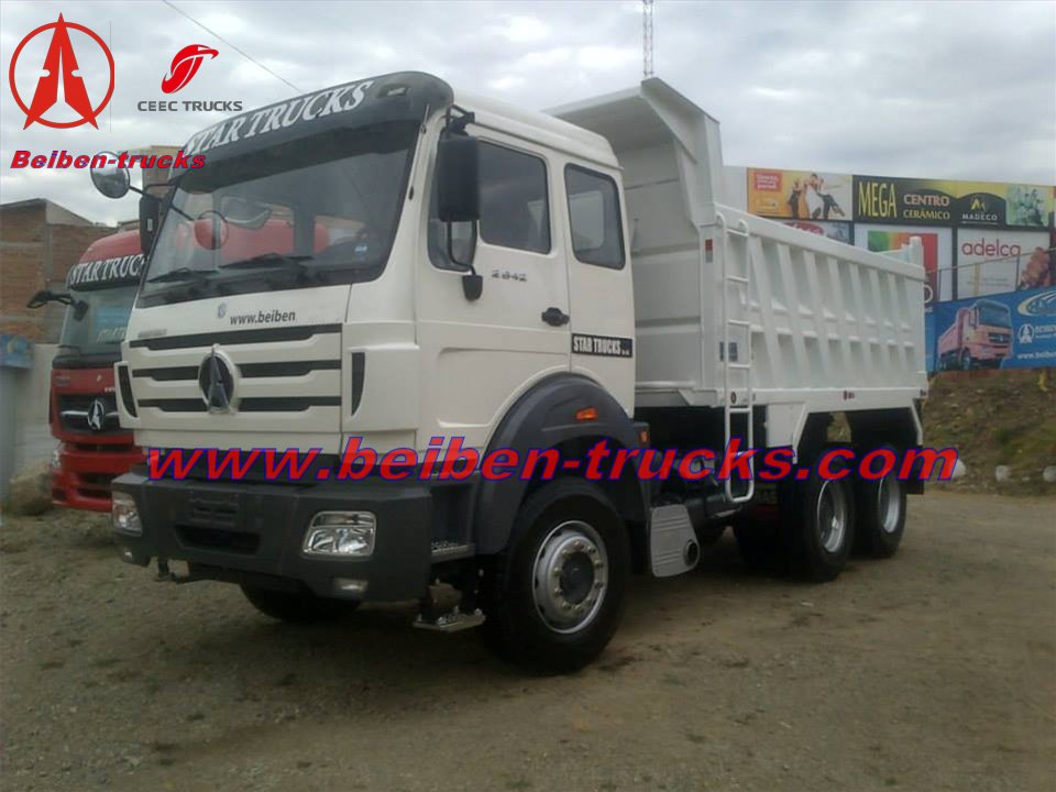 Baotou North Benz 10 tires camion benne/engineering truck  manufacturer
