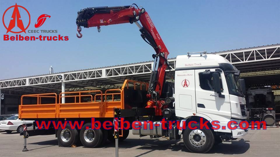 China beiben V3 10 T truck mounted crane