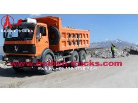 china baotou beiben 10 wheeler dump truck 340 Hp engine