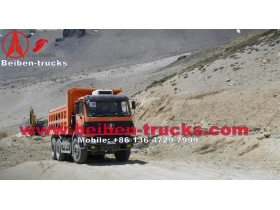 north benz 25 Ton dump truck 6*4 driving
