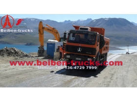 baotou Beiben NG80 25ton tipper 6*4 dump truck north benz  for sale
