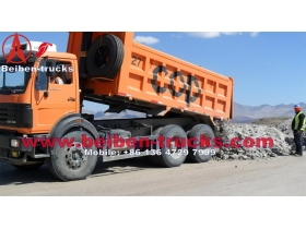 China beiben right hand drive tipper truck supplier