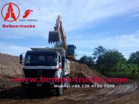 china 340 Hp north benz dump truck for africa customer