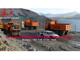 used Benz technology Beiben dump truck 6x4 tipper 340hp