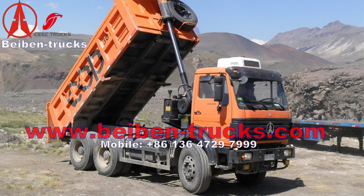 china beiben 6*4 wheeler 25 Ton dump truck manufacturer