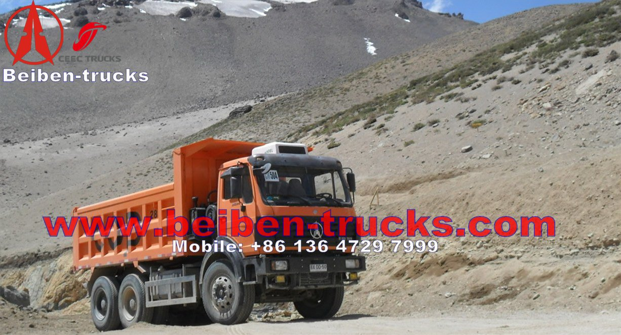 baotou Beiben dump truck chassis 30ton tipper chassis weichai engine