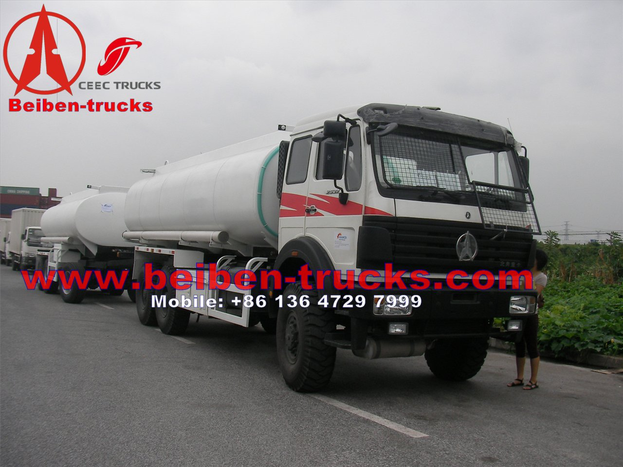 North benz 2534 6*6 wheel drive fuel trucks manufacturer