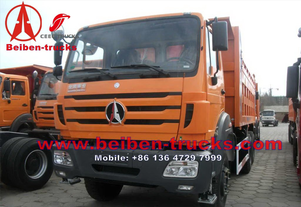 china best manufacturer for beiben 6*4 drive camions benne
