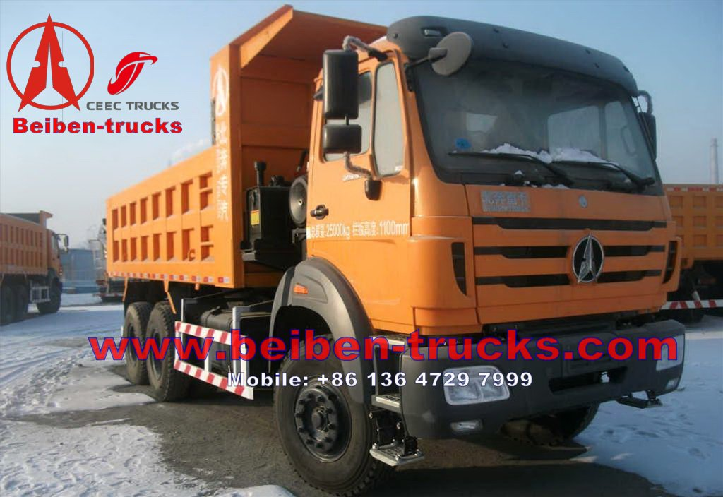 Beiben 30 T camions benne 6*4 drive for congo customer