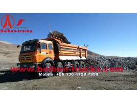 used beiben 8*4 drive heavy dump truck in best price