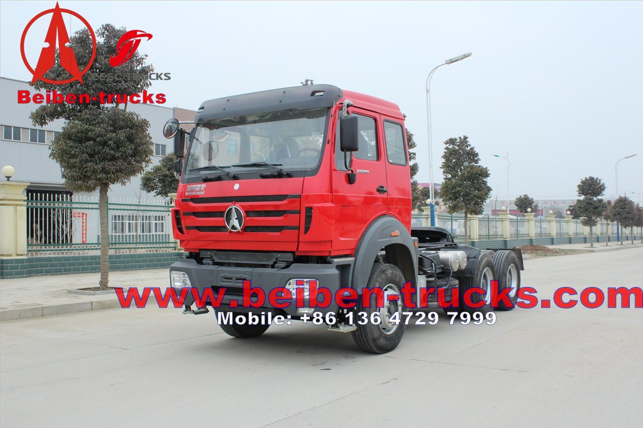 baotou North benz beiben 6x4 tractor head/ trailer truck 480hp for sale