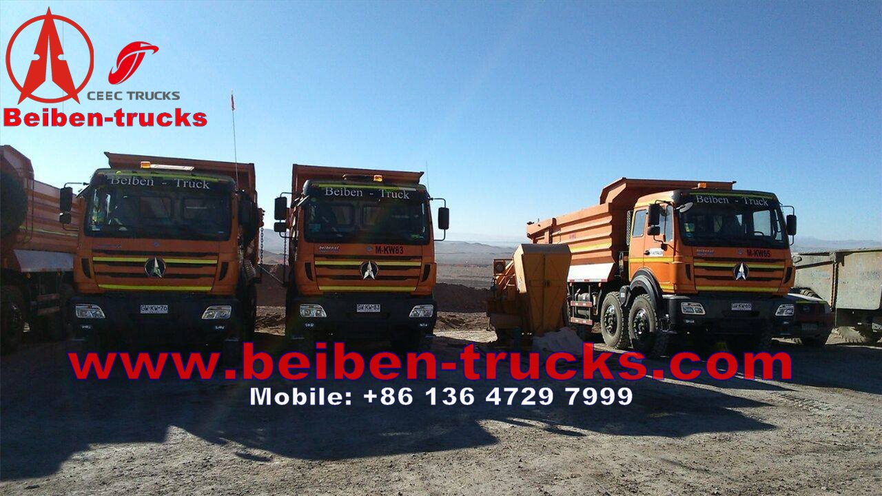 beiben 8*4 drive tipper trucks with Germany benz technology
