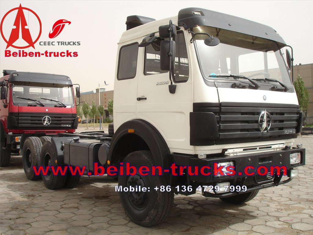 North Benz BEIBEN Tractor Head 60Tons with WEICHAI engine 380hp Tractor Truck for Congo