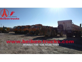 used beiben north benz NG80 30 CBM cargo box 8*4 tipper trucks