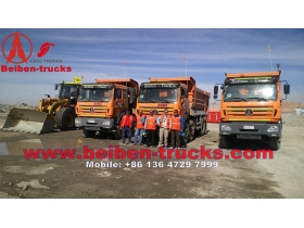 china beiben 8*4 heavy off road dumper for constructiong