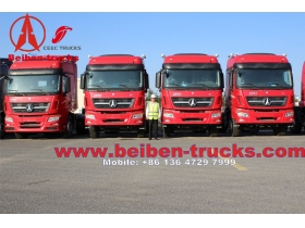 Beiben V3 6x4 Tractor Head Mercedes Benz Truck Engine for congo customer
