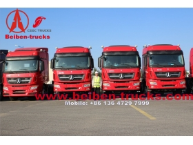 North Benz 6x4 beiben tractor truck 375hp 40ton tractor truck for africa using