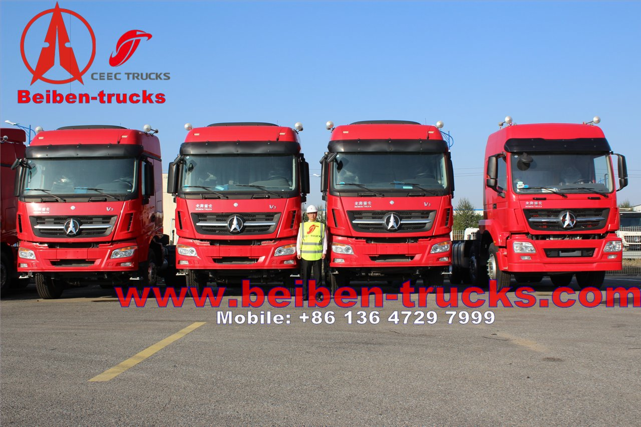 cheapest price for Beiben 6x4 336hp Mercedes Benz Technology North Benz/Beiben tractor truck