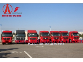 congo customer North Benz 6x4 beiben tractor truck 100ton trailer truck with 420hp WEICHAI engine