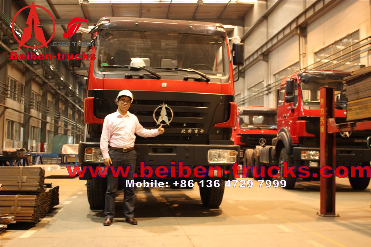 Mecedes Benz Technology Beiben Truck 6X4 Trailer Tractor 420hp ND4253B34J for Africa Market