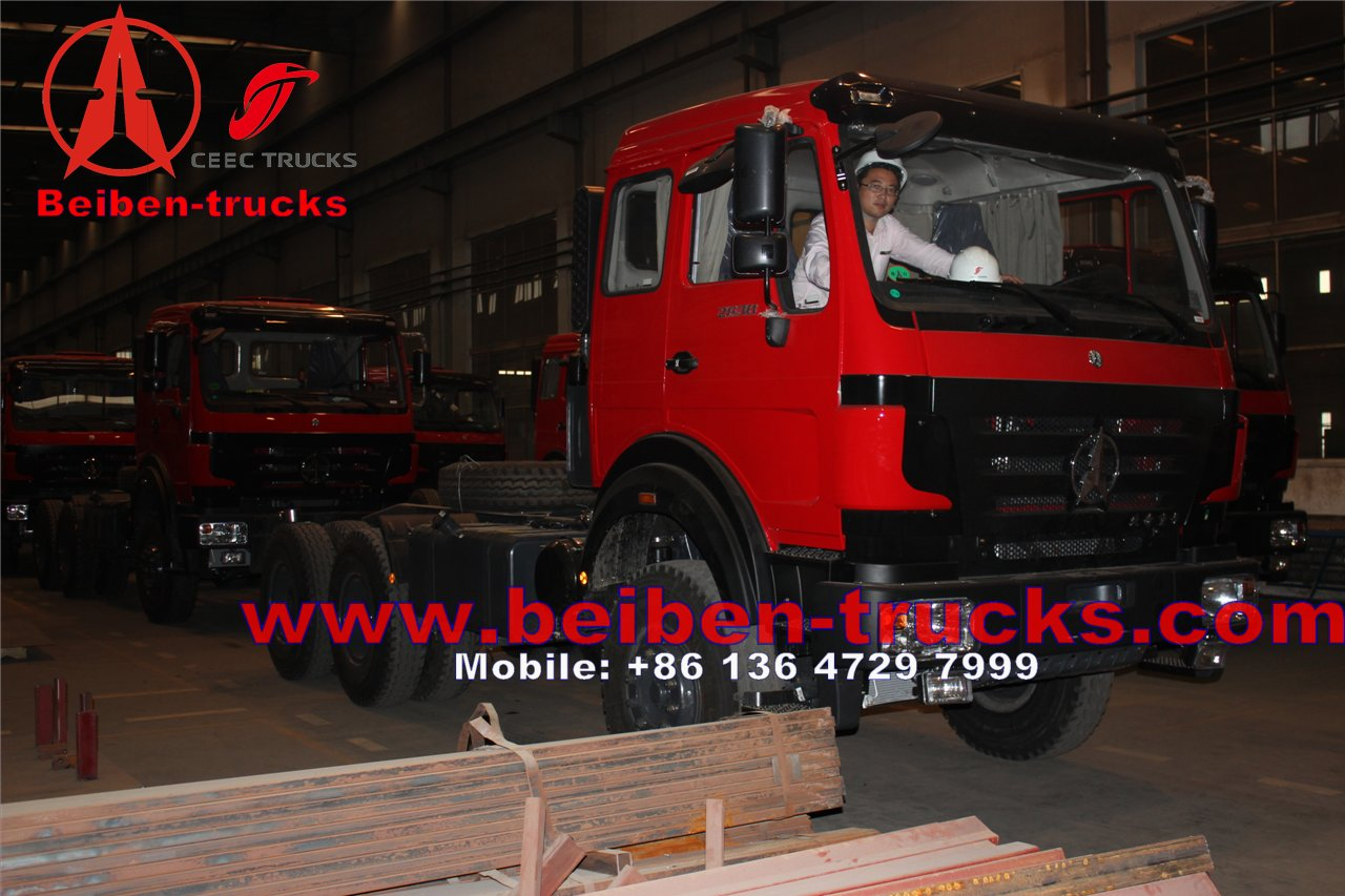 Beiben Truck 6X4 Tractor Head LHD Drive 420hp 2642SZ supplier from china
