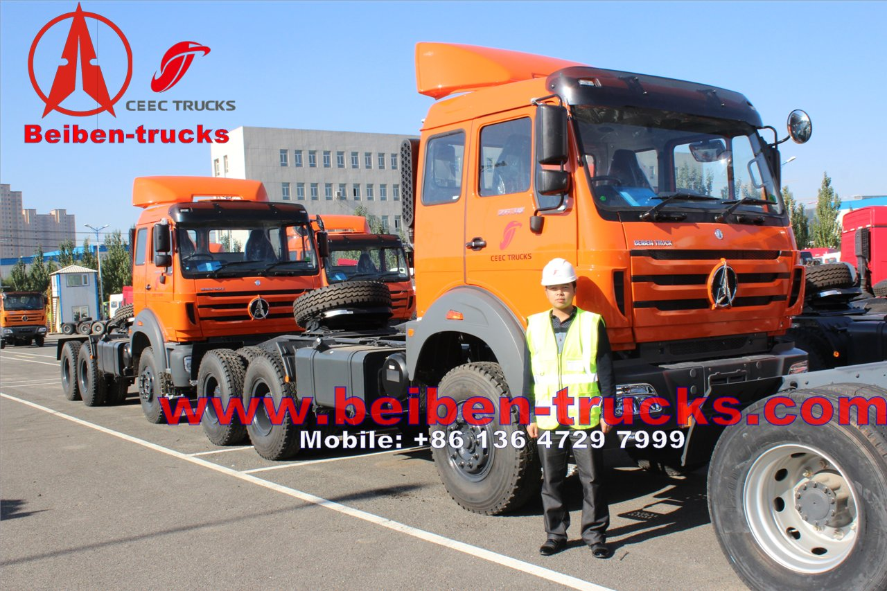 Beiben 6x4 Strong Horse Power Tractor Truck In Low Price Sale/rc tractor trucks supplier from china