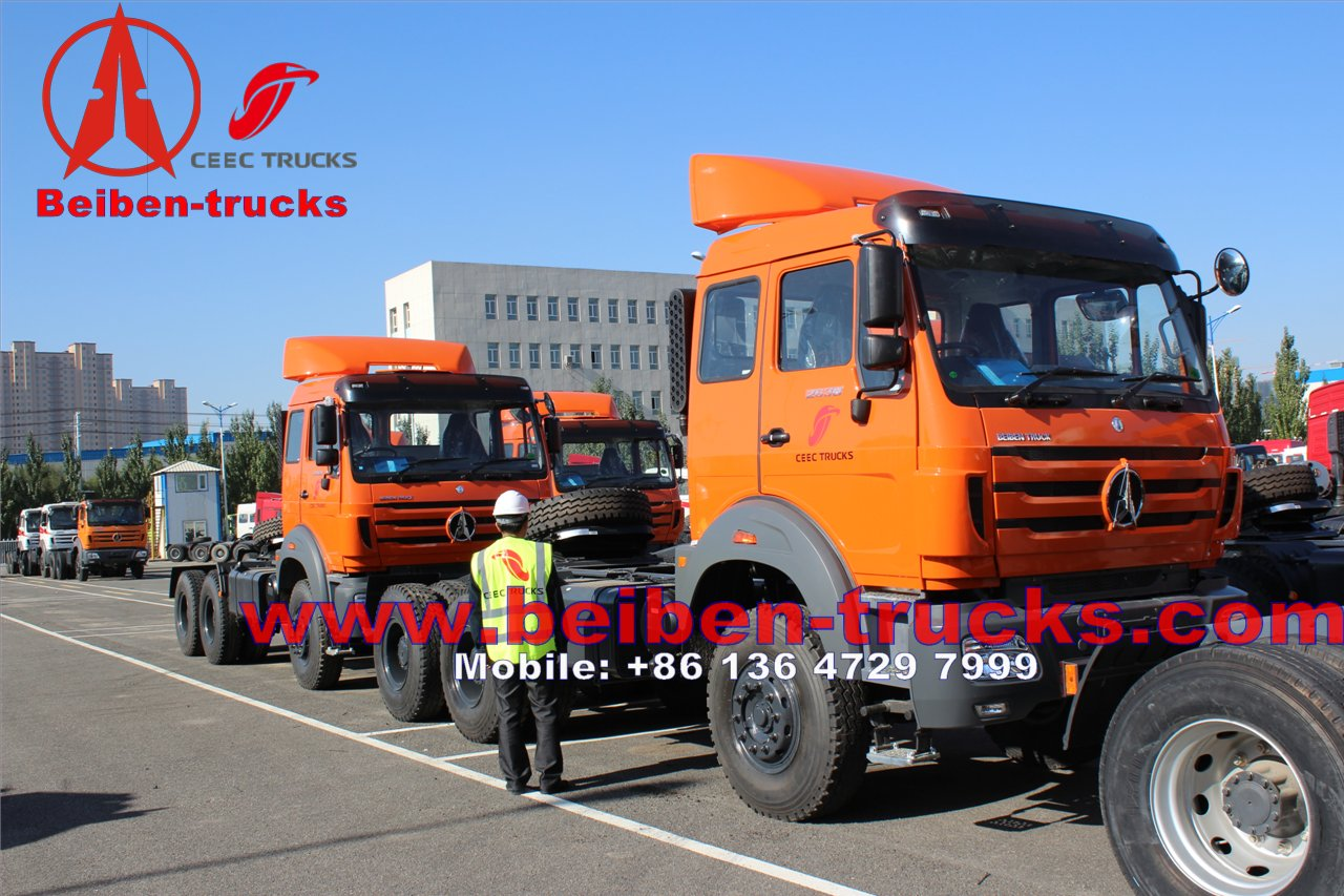 CHINA Beiben NG80 6x4 380hp tractor truck with best price for congo