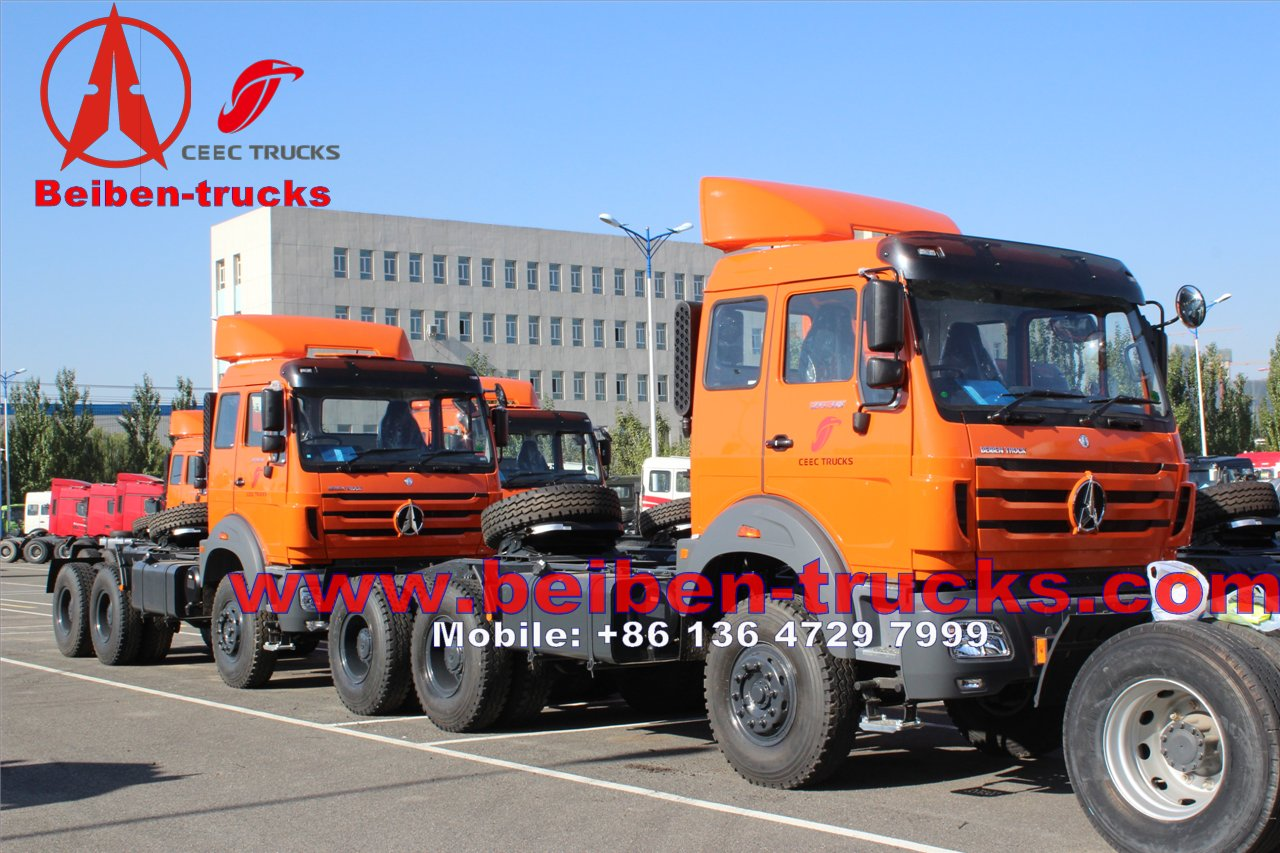 used Benz/ Beiben/ North Benz / Power Star Trailer Tractor Truck Camion Prime Mover with WD Engine For Congo