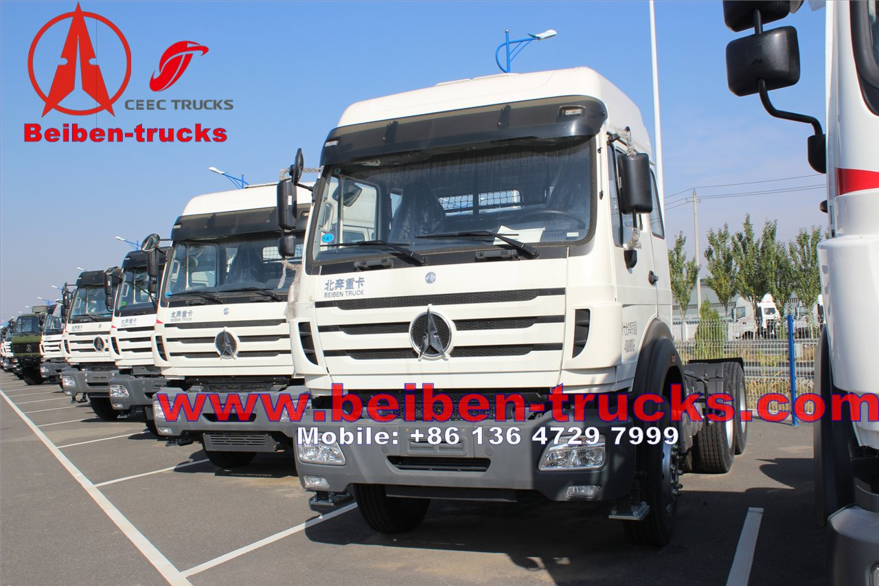North Benz tractor head beiben truck 6x4 380hp EURO 3 tractor truck  price from china plant