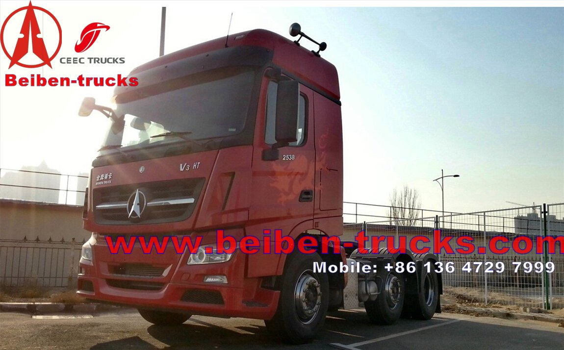 Beiben V3 Truck 420hp low price trailer tractor supplier for africa
