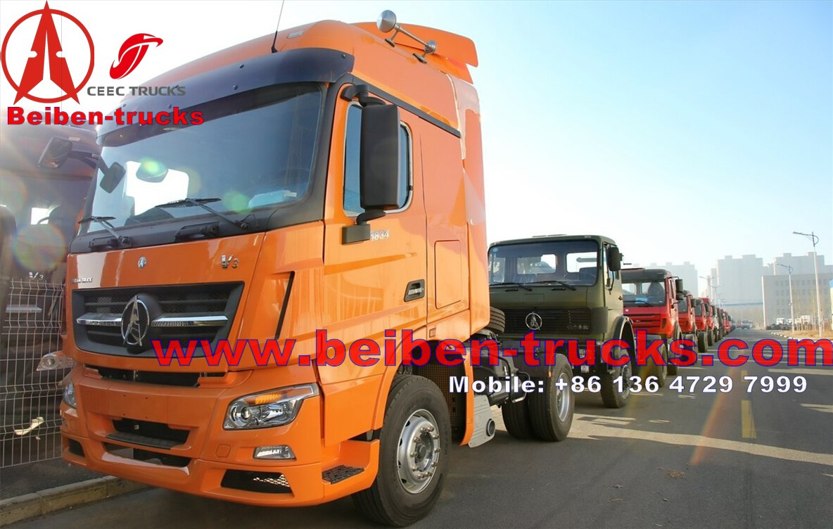 Beiben V3 480hp right hand drive tractor truck head manufacturer in china