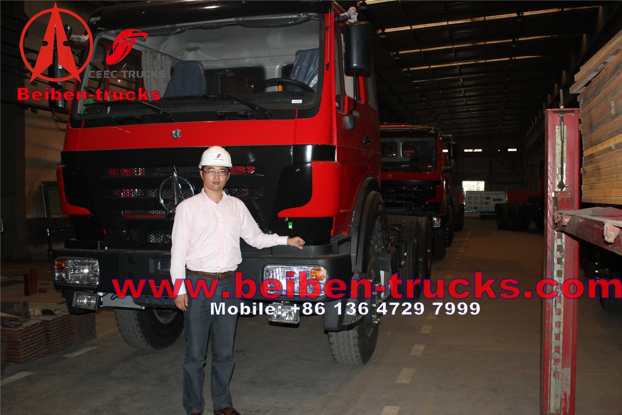 Mecedes Benz Technology Beiben Truck 6X4 Tractor Head LHD Drive 420hp ND4253B34J for Africa Market