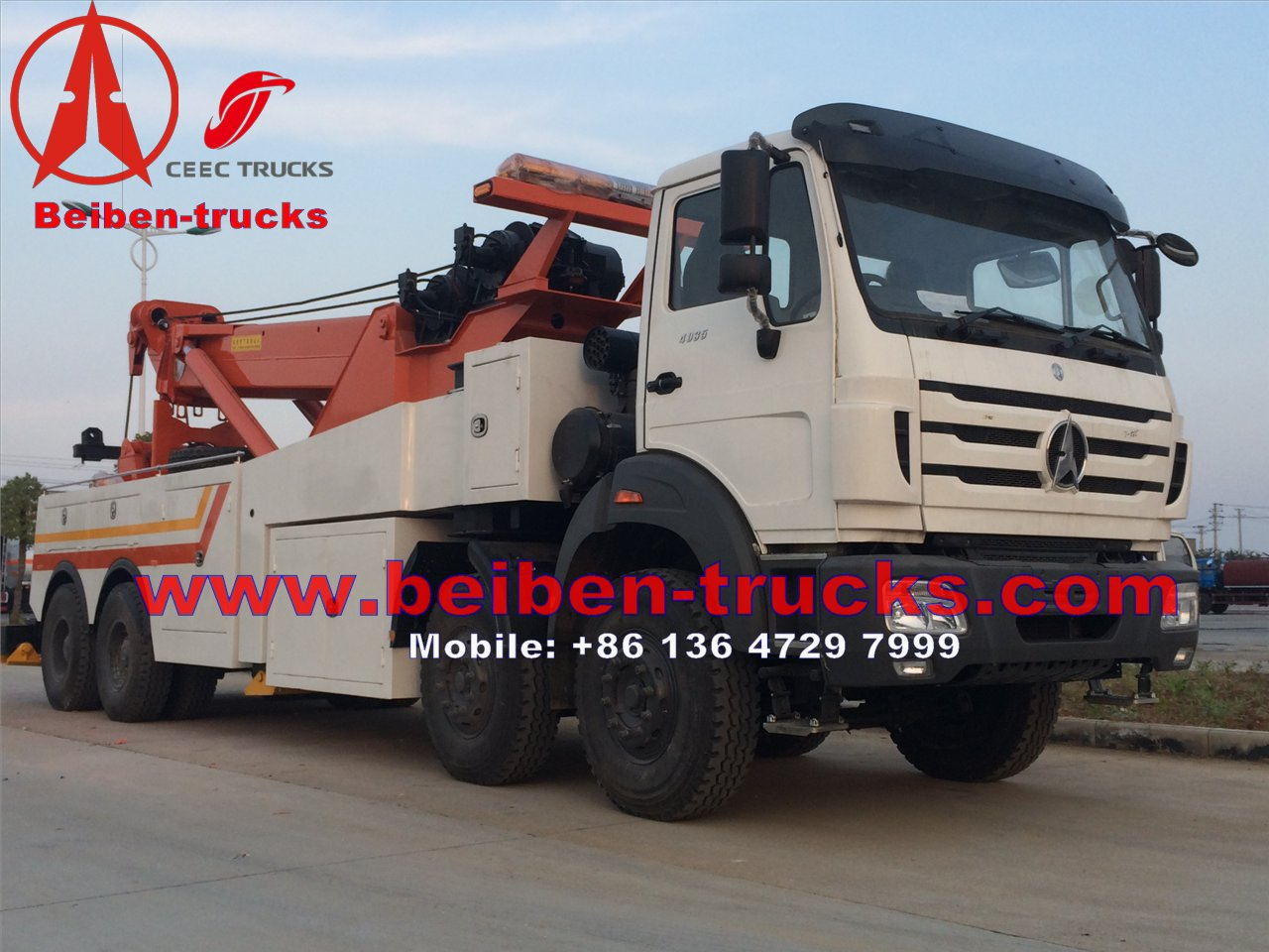 used china beiben 30 T towing truck manufacturer