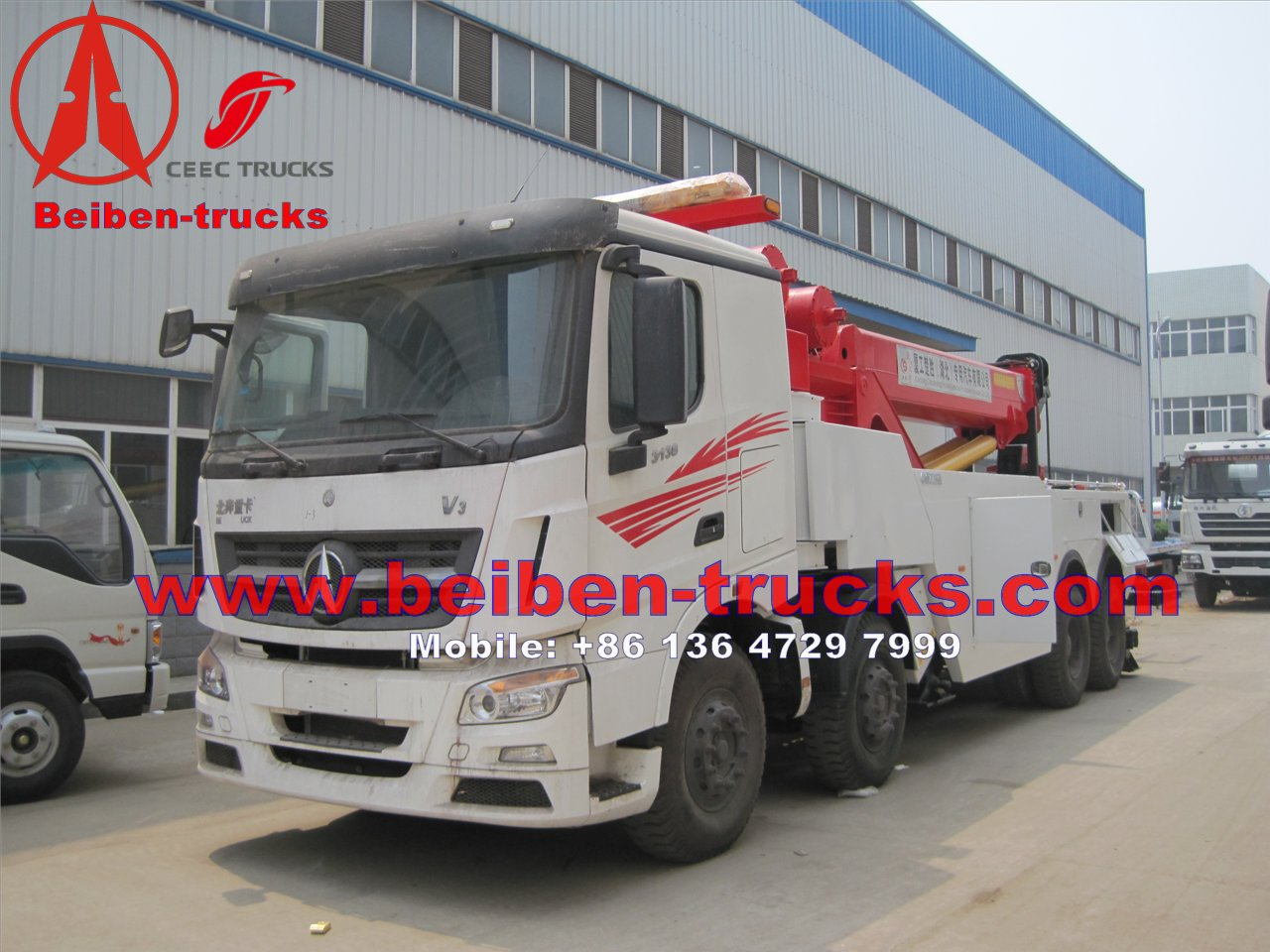 beiben North Benz 3138 Rotator Wrecker truck manufacturer