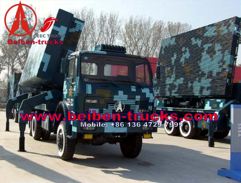 used baotou beiban left hand drive 4*4 wheel military truck chassis supplier
