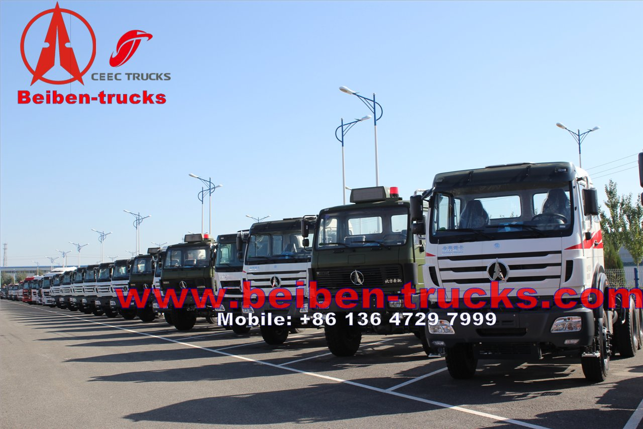 cheapest price for 4x2 380hp North Benz BEIBEN tractor truck and trailer for sales